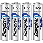 4 piles AA (R6) lithium 1,5V 3000 mAh Energizer Ultimate
