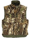 Camouflage quilted vest without sleeves