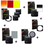 PACK - FILTRES STEALTH GEAR (Kit Porte-filtre + 3 filtres HD rouge/jaune/coucher de soleil + dégradé ND8 + polarisant + ND2 + Porte filtre Grand angle)